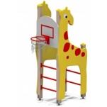 Детский спортивный комплекс «Жираф» с баскетбольным щитом